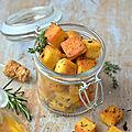 Croûtons de panisse {à l'huile d'olive & aux herbes de provence} #vegan #glutenfree