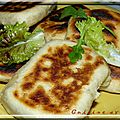 Naans jambon fromage