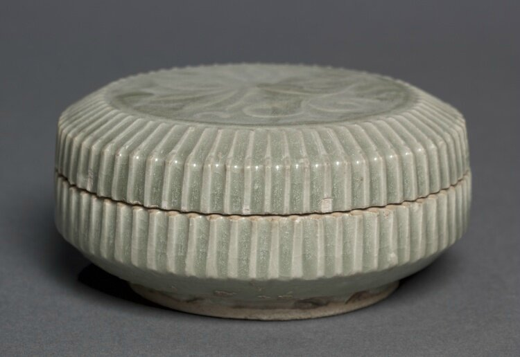 Covered Box with Carved Floral Design, Yaozhou Ware, 1100s, China, Shensi province, Northern Song dynasty (960-1127)