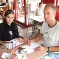 Lorène et Pascal en plein travail