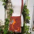 Sac cours laine/toile seventies