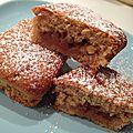 Mini cakes à la compote de pommes et aux carambars