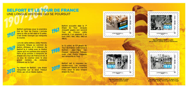 Carnet Souvenir philatélique Tour de France 2019 V
