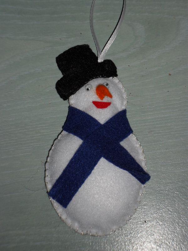 Tuto d coration de no l le bonhomme de neige en - Bonhomme de neige decoration exterieure ...