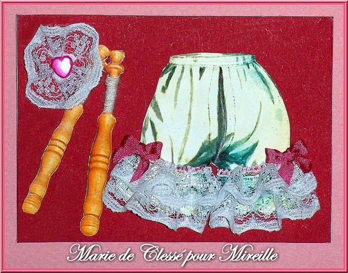 Echange ATC chez Miou lettre D Marie de Clessé pour Mireille