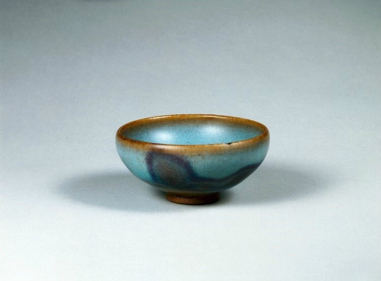 Small blue cup with splashed glaze, Northern Song dynasty, about AD 1000–1127