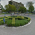 Rond-point à amsterdam (pays-bas)