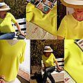 Top tilda jaune comme le soleil d'été