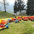 Camions berliet jouets en plastique.