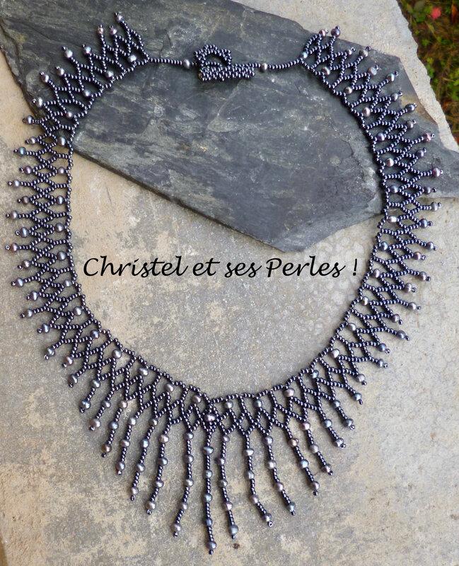 Collier perles eau douce