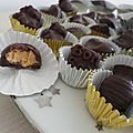 Chocolats fourrés au beurre de cacahuète
