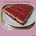 Bavarois fruits rouges / chocolat blanc thermomix