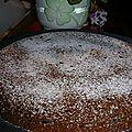 Gâteau amande chocolat