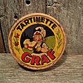 Ancienne boite carton publicitaire crème de gruyère tartinette graf