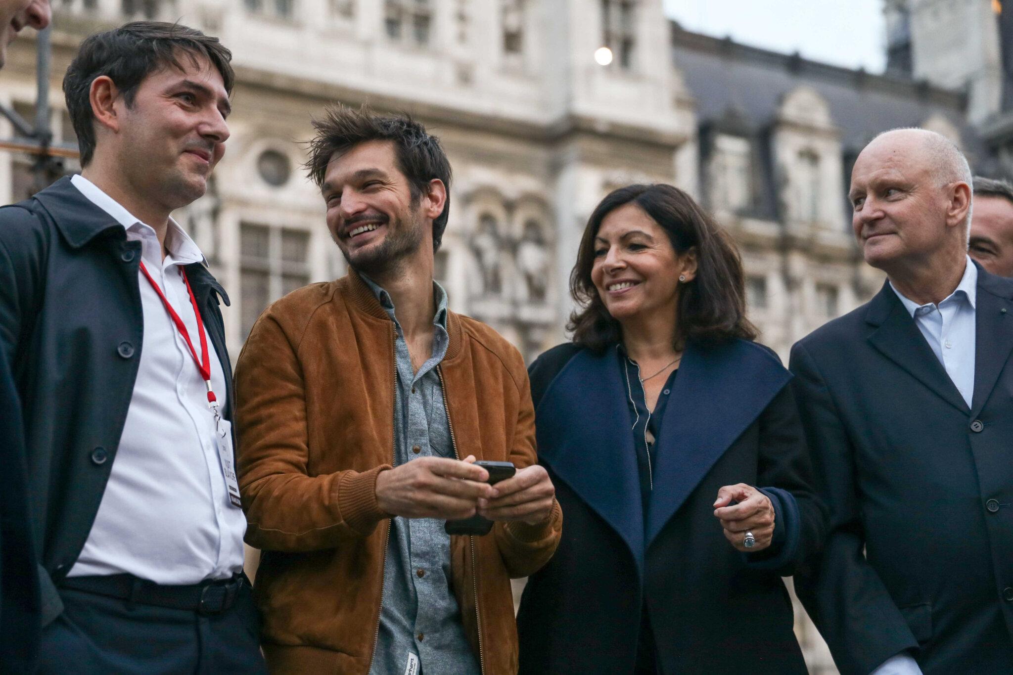 Nuit Blanche : Anne Hidalgo lance l'édition 2018 avec un fond de contestation. © Michel Stoupak. Sam 06.10.2018, 18h14m33.