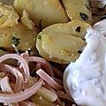 Pommes de terre rôties a l'ail des ours
