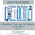 Invitation à la cérémonie du prix international théophile legrand de l'innovation textile au service de l'industrie
