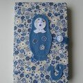 Carnet matriochka bleu (avril07)