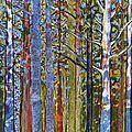 Peinture nouvelle forêt .