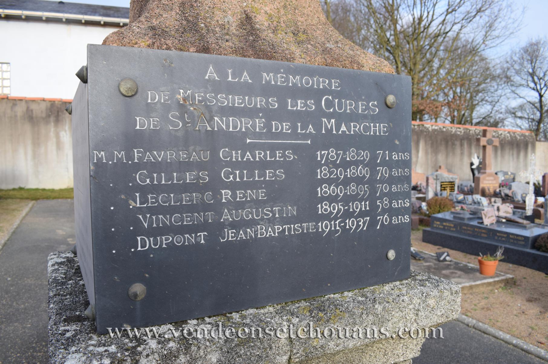 L'abbé Favreau, curé clandestin de Saint-André-de-la-Marche