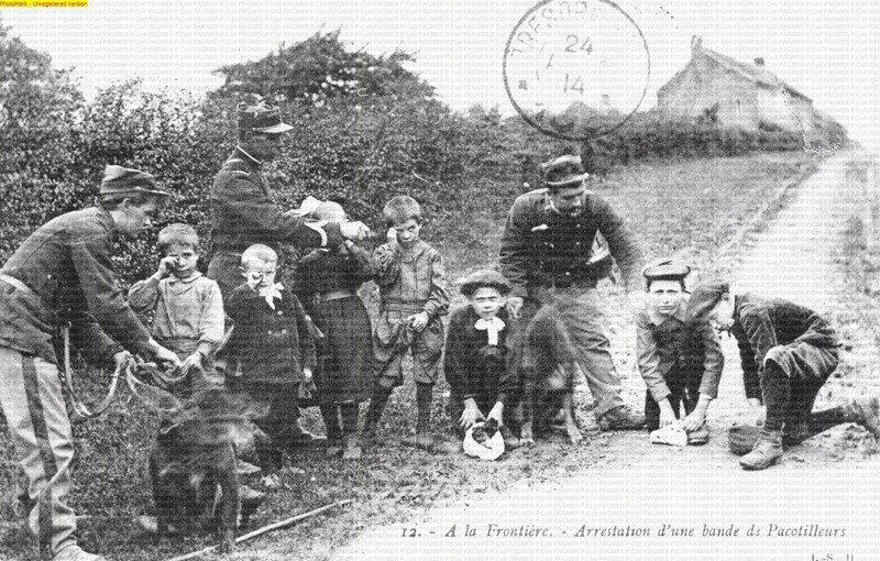 Arrestation d'une bande de Pacotilleurs