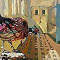 Un faisan dans les couloirs de la villa thiole