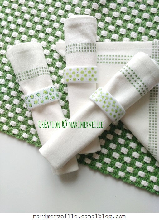 ronds de serviette couleur du temps 4-5-6- création marimerveille
