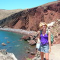 Red beach à Santorin