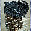 Wild Ruffle bleu et bronze I