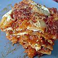 Lasagnes butternut et fromage de chèvre