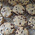 Biscuits au beurre de cacahuètes et chocolat (tour en cuisine 376)