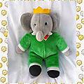 doudou_peluche_elephant_babar_vintage_mafi_33_cm