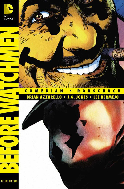 before watchmen deluxe edition HC comedian rorschach