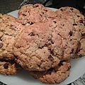 Cookies chocolat pépites de nougatine