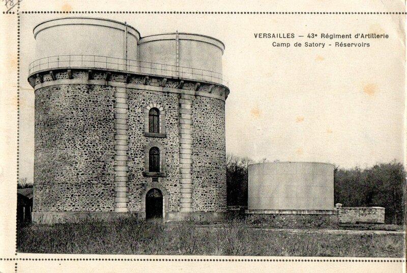 Camp de Satory, Versailles, Album carte-lettre militaire du 43e RAC, Réservoirs