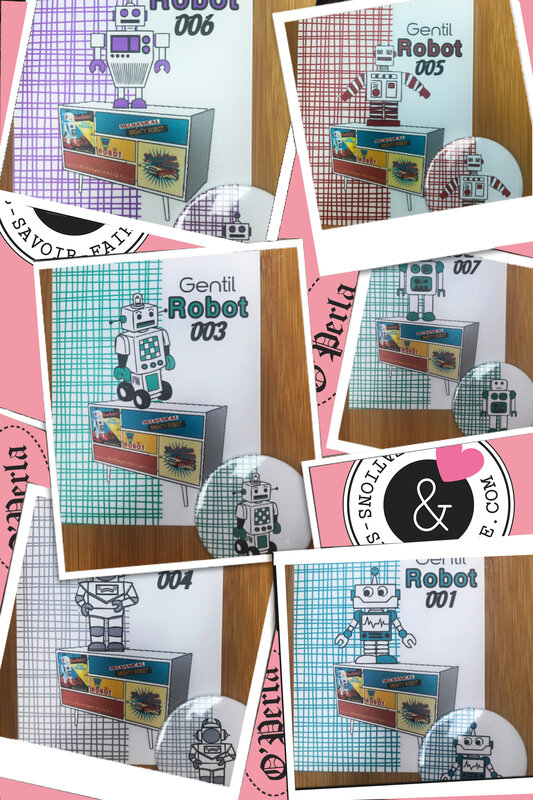 collage robots cartes