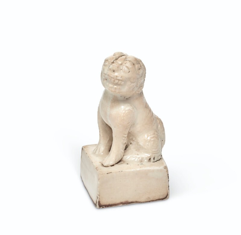 A white-glazed 'lion' seal, Song-Ming dynasty (960-1664)