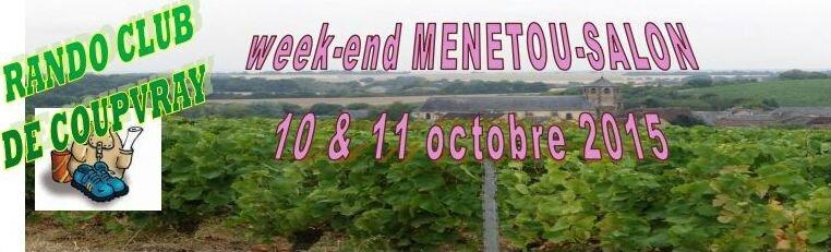 WEEK-END MENETOU-SALON 10&11 octobre 2015