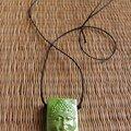 Collier Bouddha vert - 10€