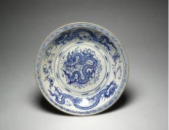 Vietnam, Charger with Dragon, Late 15th Century. Stoneware