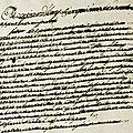 Le 5 décembre 1789 à mamers : affichege de la liste des domiciliés dans la commune.