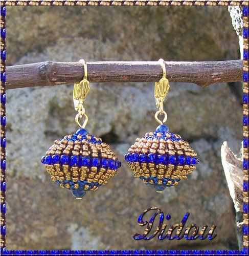 BO cedra beads light bronze-cobalt