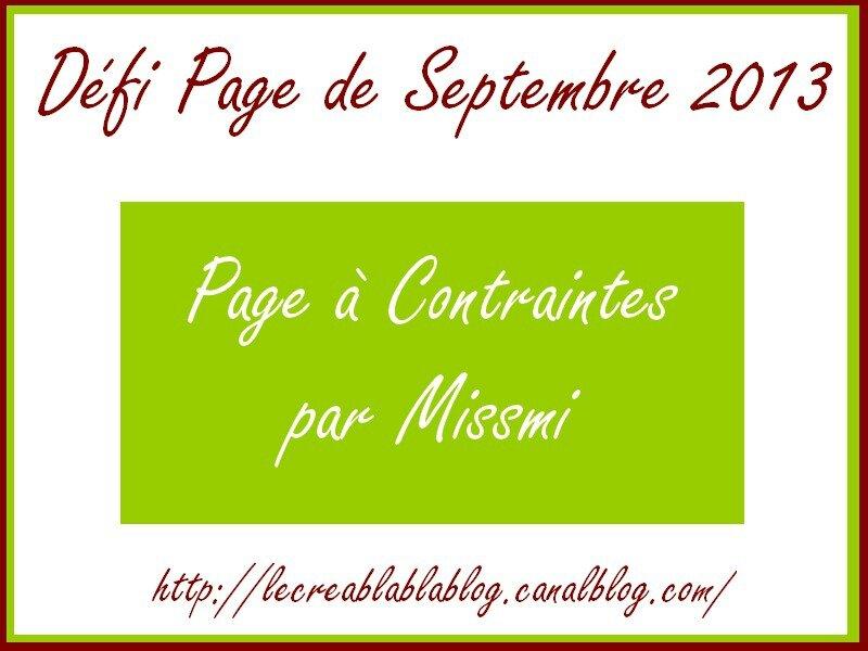 Défi Page Septembre 2013