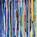 Forêt #27, 2011, acrylique, collage et coulures sur papier, 45 x 32 cm