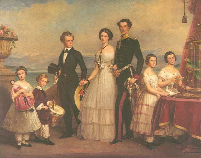 Joseph Karl Stieler, les enfants Wittelsbach