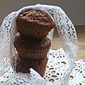 Muffins caramel beurre salé et pépites de chocolat