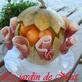 Melon et ses roses de jambon!!!