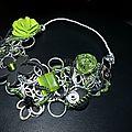 collier alu vert