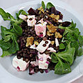 Salade de lentilles, betteraves et féta