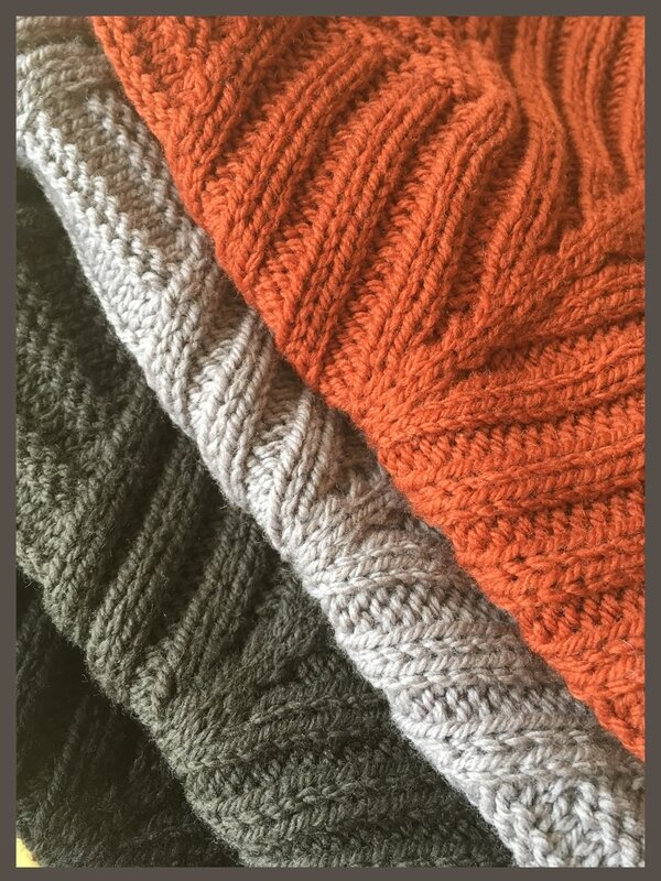 Ribron Cowl gris-orange -6